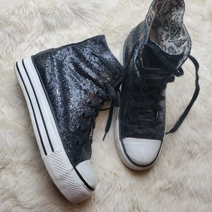 iijin black  sparkle fashion sneakers size 39